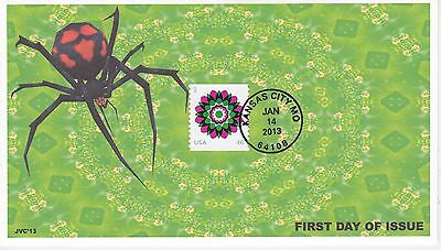 Jvc Cachets - 2013 Kaleidoscope Flower Issue First Day Cover Fdc Topical L.e. #4