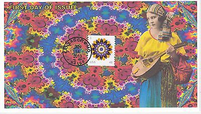 Jvc Cachets - 2013 Kaleidoscope Flower Issue First Day Cover Fdc Topical L.e. #2