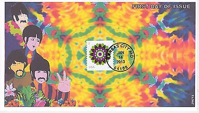 Jvc Cachets - 2013 Kaleidoscope Flower Issue First Day Cover Fdc Topical L.e. #3