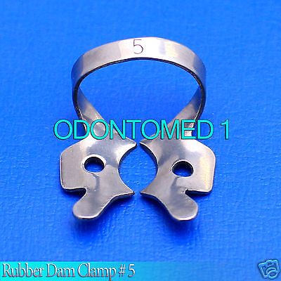 6 Endodontic Rubber Dam Clamp # 5 Surgical Dental Instruments