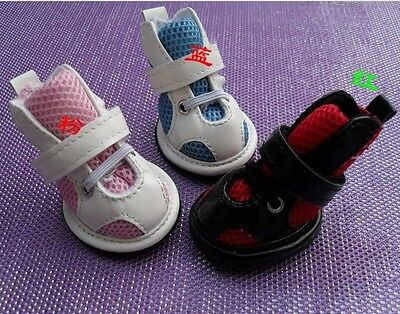 Good Pet Dog Boots Puppy Mesh Shoes 3 Colors For Small Dog SIZE #1-#5 4 Pcs/Set