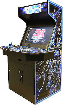 """4 Player 32"""" Multi-Game Retro Home Classic Video Arcade #1 Rated MAME(tm) Ready"""