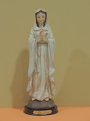 "Mary Mystic Rose 12.5"" tall, Maria Rosa Mistica  , mystical rose"