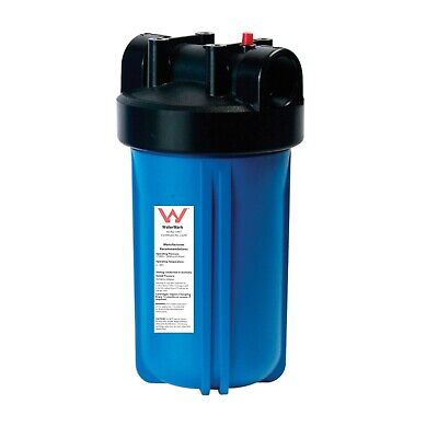 "Big Blue Housing Tank House Water Filter + 1"" Ports + NO 10""x4.5"" FILTERS BB10"