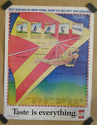 Sky Sailing in NY original 1974 tobacco advertising poster by Winston cigarettes