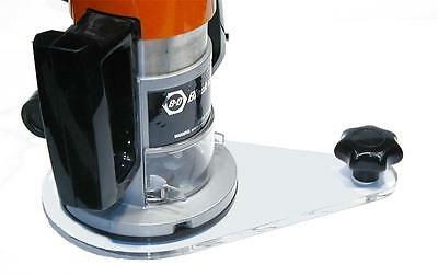 Universal Offset Router Sub Base Plate fits Porter Cable Style Guide Bushings