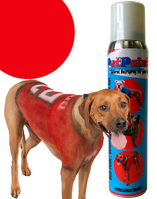 PetPaint Pet Dog Paint Color Spray Safe for Dogs Rescue Red