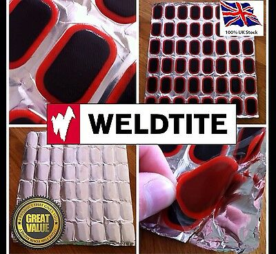 Bicycle Bike Weldtite Tire Tyre Tube 12 Rubber Puncture Patch Patches Repair Kit