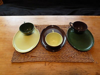 WONDERFUL Vintage Set Knowles Coffee Cups and Saucers or Snack Trays