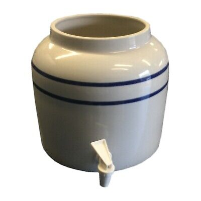 Ceramic Crock Dispenser | Lead Free Bottled Water Well | Can Use Funnel Filters
