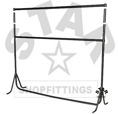 Double 3ft|4ft|5ft|6ft x 7ft High HEAVY DUTY RAIL Clothes Garment Dress Stand
