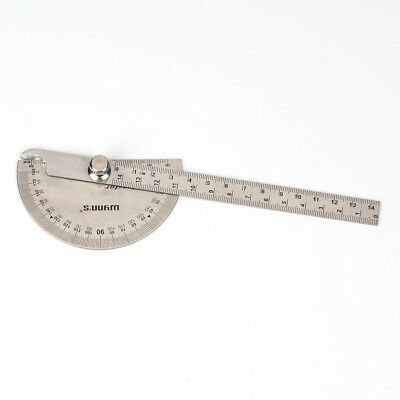 Stainless Steel 0-180 Protractor Angle Finder Arm Measuring Ruler AU
