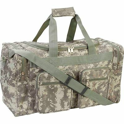 """Camo 21"""" Carry-On Outdoor Duffle Bag, Mens Army Travel Overnight Luggage Tote"""