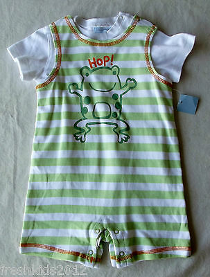 First Impressions Baby Boy 2PC Tee and Stripes Sunsuit Set 24 Months NWT B5300