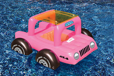 Baby Pool Buggy Float Seat Rider Inflatable Car Canopy Kids Toddlers Jeep 98450