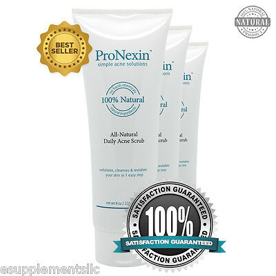 PRONEXIN 3pack - Natural Face Scrub Acne Treatment - Removes Dead Skin and Dirt