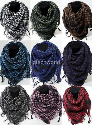 Arab Shemagh Keffiyeh Military Tactical Palestine Light Scarf Shawl Kafiya Wrap