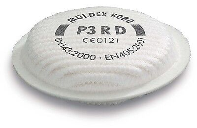 Moldex 8080 P3 RD Particulate Filters Harmful Carcinogenic Dusts Fumes Aerosols