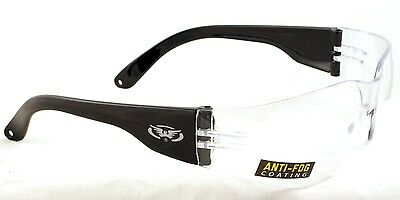 New shatterproof clear antifog motorcycle glasses/biker wraps 4 open face helmet