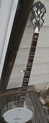 Left Handed  and Right Handed Long Neck Banjo with Archtop Tone Ring