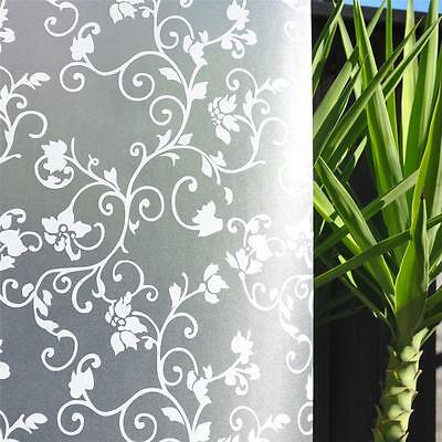 92cm x 5m Floral Flower Privacy Frosted Frosting Removable Window Glass Film