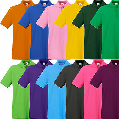 Fruit of the Loom Premium Poloshirt Polo T-Shirt S M L XL XXL 3XL