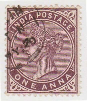 Stamp(I12) 1882 INDIA 1a purple QVIC SG88