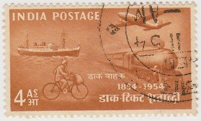 Stamp(I173) 1954 INDIA 4a brown stamp Centerary ow350