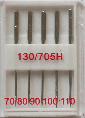 Standard Point Sewing Machine Needles Assorted 130r/705h