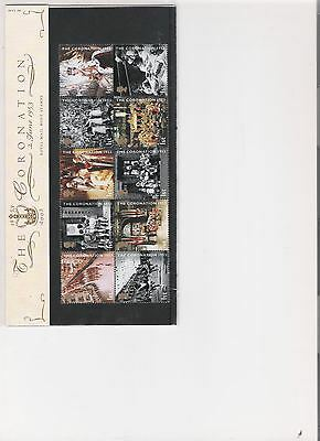 2003 Royal Mail Presentation Pack The Coronation Mint Decimal Stamps