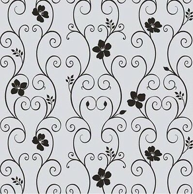 92cm x 1m Floral Flower Privacy Frosted Frosting Removable Window Glass Film