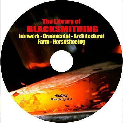 Blacksmithing Forging Anvil Steel Wrought Iron Horseshoeing Welding Books on DVD