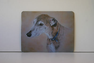 Dog Mousemat  GREYHOUND * WHIPPET * LURCHER by UK artist 6 Images To Choose From