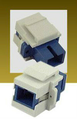 SC Fiber Optic Cable Connector for Keystone Wall Plate or Patch Panel - Qty: 1