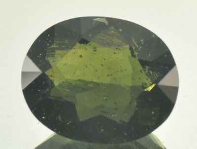 11.2ct HUGE oval MOLDAVITE FACETED CUTTED GEM 14.09x17.3mm NORMAL CUT #BRUS538