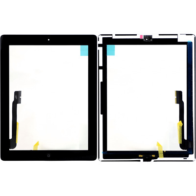 For Apple iPad 4 Digitizer Black Screen Replacement Touch Glass Button Adhesive