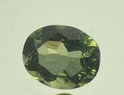 0.31cts oval normal cut MOLDAVITE FACETED CUTTED GEM 4x5mm #BRUS522