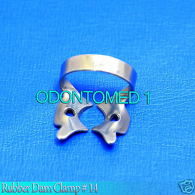 12 Endodontic Rubber Dam Clamp # 14 Surgical Dental Instruments
