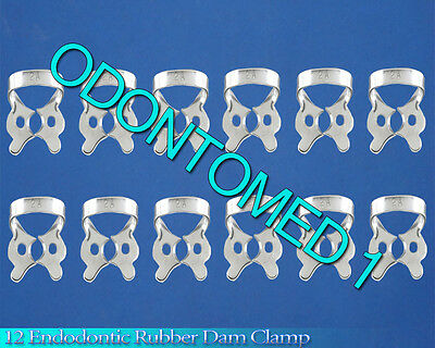 12  Endodontic Rubber Dam Clamp # 2A Surgical Dental Instruments