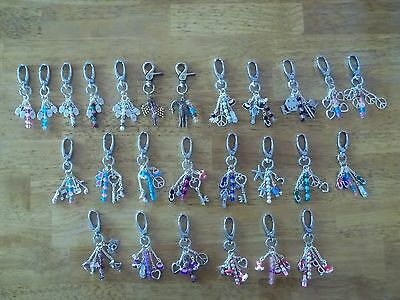 key/Purse chain charms w/lobster clasp,vacation,summer,casino,heart,peace,love