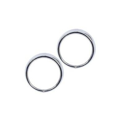 Set of 2 VW Headlight Chrome Trim Ring Bug Bus Thing Type 3 Hella 311941177