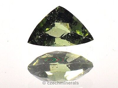 0,5cts trillion rose cut MOLDAVITE FACETED CUTTED GEM 5x7.5mm #BRUS496