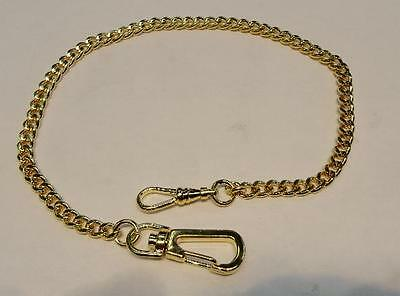 Brand New Gold Tone Fancy Pocket Watch Chain - Free Shipping