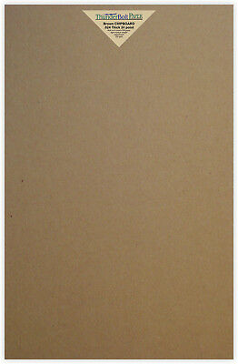 25 Brown Kraft Chipboard Sheets 11X17 Size 24pt Thickness -Scrapbook Chip Board