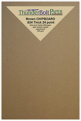 200 Brown Kraft Chipboard Sheets cut 4 X 6 24pt Thickness Scrapbook Chip Board