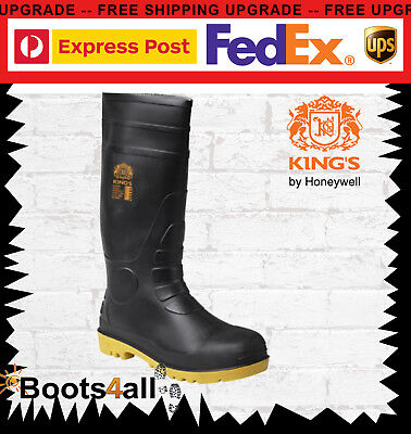 New Kings by Oliver Work Safety Gumboots Waterproof Steel Toe Rubber Sole 10100