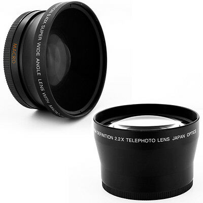 67mm WIDE ANGLE,2X TELE LENS for Nikon Nikkor 16-85mm 18-70mm 18-105mm 70-300mm