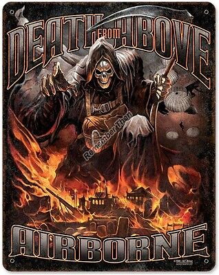Death From Above  Military Airborne heavy metal sign 11x14""