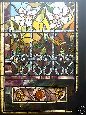 2 Gorgeous Leaded Stained Glass 16 Jewel Windows