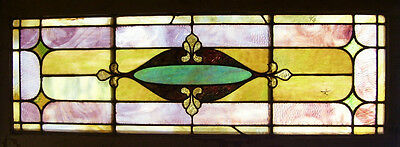 "STAINED GLASS Window - Antique - ""Through the Portal""    (SG868)"